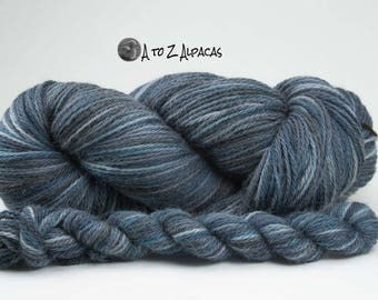 Hand Dyed Worsted Weight 100% Alpaca Yarn Scarier Clouds
