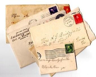 7 Antique and Vintage Letters to Mrs Annie Bridgeforth - From 1912-1930s