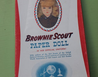 Vintage Girl Scout / Brownie Doll Paper Doll Kit, Uniforms of the World