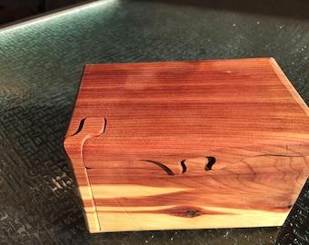 Handcrafted 4 Piece Red Cedar Puzzle Box