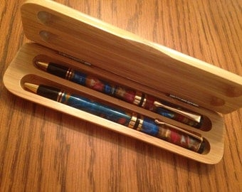 Bamboo Presentation Box - pen and pencil not included