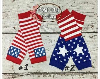 4th of July legwarmer, Patriotic leg warmers, American flag Leg Warmers,   Baby girl Leg Warmers, 4th of July leg warmers, girls Leggings