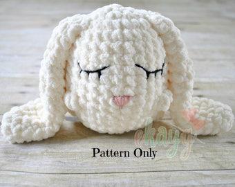 Crochet Pattern, Puffy Stuffy Bunny