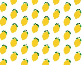 Lemon wrapping paper, gift warp