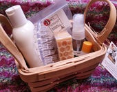 Easter/Mother's Day-HONEY OATMEAL & MILK Small Basket Set-by Happy Goat