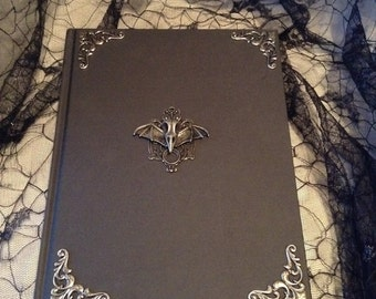 Black with Metal Bat Skull Goth Sketchbook Journal