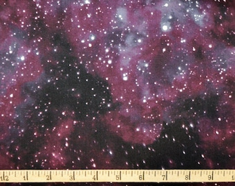 Blank Quilting. Cosmic Space. Starry Sky Black - BTY Cotton Fabric - Choose your cut
