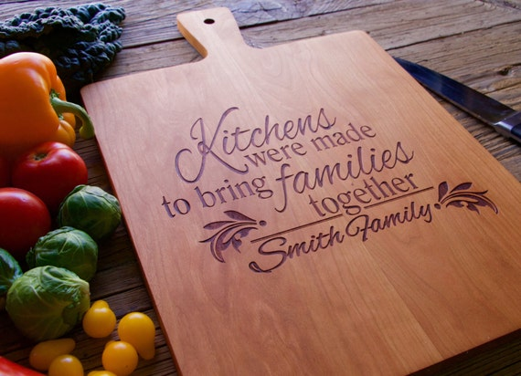 Engraved Cutting Board, Handled Cutting Board, Personalized Cutting Board, Personalized Wedding Gift, Wedding Gift, Christmas Gift