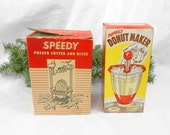 RESERVED TONI   VIntage Popeil Brothers Speedy Potato cutter and dicer original boxes Popiel Brothers vintage kitchen