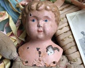 Dear God Minerva They Loved The Parts Right Off You Antique German Tin Doll