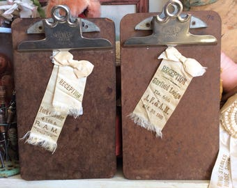Nothing Fancy Just Two Small Vintage Clip Boards To Hold Your Fancy