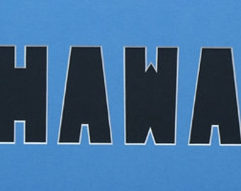HAWAII Custom Name Frame Photo Mat state cutout palm trees custom photo mat