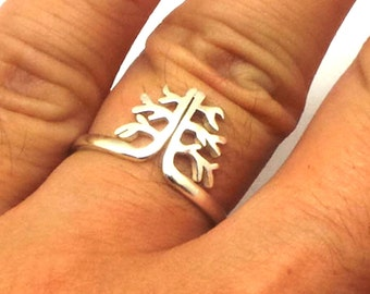 Tree of Life Ring - Sterling Silver Tree of Life Ring, Treering, tree jewelry, branch ring, Gift for her for christmas