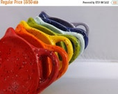 SALE Orange Teapot Teabag Holder Trinket Dish from my Charleston, SC studio