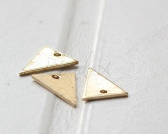 60 Pieces / Raw Brass / Brass Base / Geometry / Triangle / Arrow / Charm (C3569//V19)