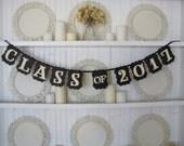 CLASS of 2017 Banner, Class of 2017 Sign, Graduation Sign, Graduation Decoration, Graduation Announcement, Senior Photos, Graduation