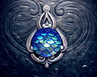 Blue Mermaid Bindi, festival costume, tribal fusion, bellydance bindi, face jewel, mermaid makeup, burning man, festival face gem, pagan