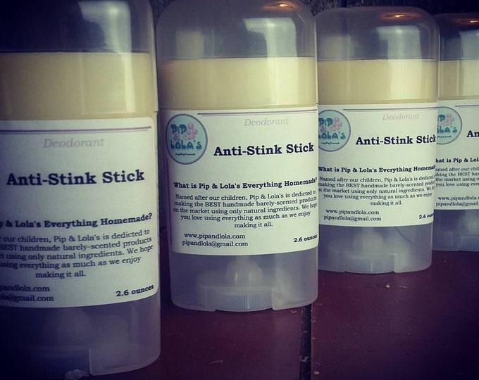 Anti Stink Stick - Handmade Deodorant - Aluminum Free Deodorant