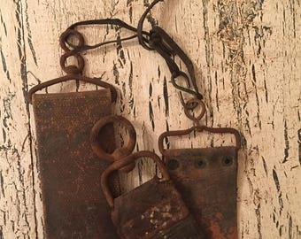 Antique Leather Shaving Strop - Set of 3 - Tattered Farmhouse Straight Razor Sharpeners