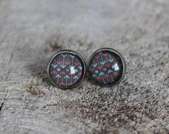 Petites merveilles fleches // earrings // fait au quebec   (BO-1204)