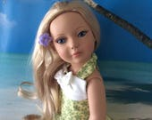 American Made Girl Doll Clothing for 18 Inch Dolls-Spring Break Hilo 2017 Retro And Trendy Hawaiian Print Dress
