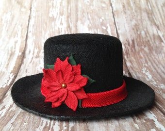Holiday Mini Top Hat | Christmas Top Hat | Newborn, Baby, Toddler, Adult | Photo Prop
