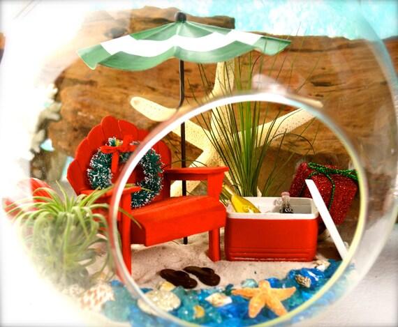 Items similar to christmas beach terrarium kit cooler for Beachy decor items