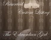 Titanic maid, Titanic stewardess, Regency doll dress