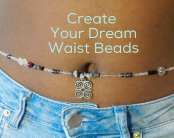 Waist Beads, CUSTOM Waist Beads By Wrap and Soul, African Waist Beads