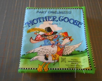 Mother Goose Volume 3 Mary Engelbreit Nursery Rhymes Soft Story Fabric Baby Toddler Book