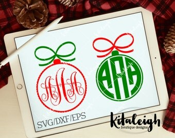 Simple Ornament Monogram Frames .DXF/.SVG/.EPS Files for use with your Silhouette Studio Software