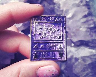 Ancient Mew Pokémon card enamel lapel pin