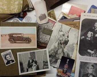 vintage masculine junk journaling kit | vintage junk journal embellishments | DIY junk journal vintage fathers day | vintage junk journals