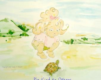 Nursery Print, Child's Print, Love, Kindness