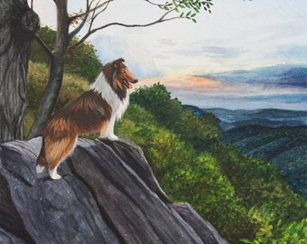 "New!  Collie Print ""Reign"", Limited Edition by Cindy Alvarado"