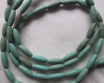 Magnesite Oval Beads 14x5mm 16 Beads