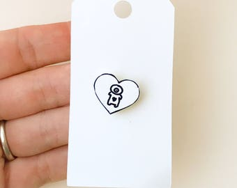 Cyclops Shrinky Dinks Pin Shrink Plastic Pin Brooch Monster Pin