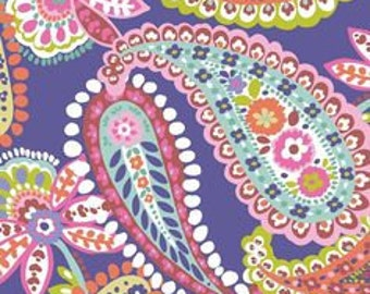 END Of BOLT ~~ 1 yard 15 inches~~ SALE Paisleigh Paisley in Purple Cotton Quilt Fabric Maude Asbury Blend Fabrics Paisley