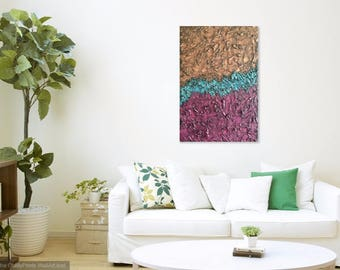 SALE <<---- Original Modern Abstract Textured Painting 34x23x1.5""