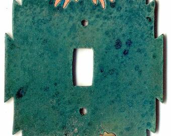 "CopperCutts Spirit Horse 4.25"" x 6""  Single Standard Switch Plate"