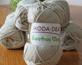 Moda-Dea Bamboo Wool - Kniting Worsted Weight  rayon from Bamboo/Wool Blend-- 80g Ball, 133 meters/145 yards