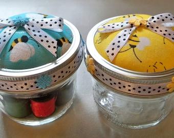 Honey Bee Mason Jar Sewing Kits