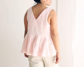 Linen tunic for women linen long shirt plus size linen