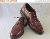 Seasonal Clearance Mens Quality Brown Derby Wingtip Size 9.5 By Prospector