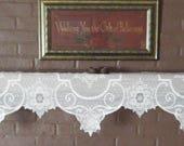 Vintage Heritage Lace Snowflake Mantle Scarf