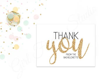 Bachelorette Thank You Note, From the Bachelorette Card, Bride to Be Thank You Cards, Party, Invites, Bach Party - Thank You - #GFS00056