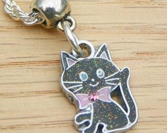 Cat necklace/pendant black cat necklace/pendant kitten necklace/pendant girls necklace/pendant teen necklace/pendant womans necklace/pendant