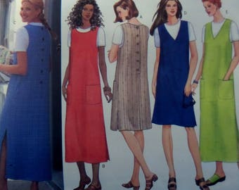 A LINE JUMPER Pattern • Butterick 5926 • Miss 14-18 • Pullover Top • Back Button Jumper • Sewing Pattern • Modern Patterns • WhiletheCatNaps
