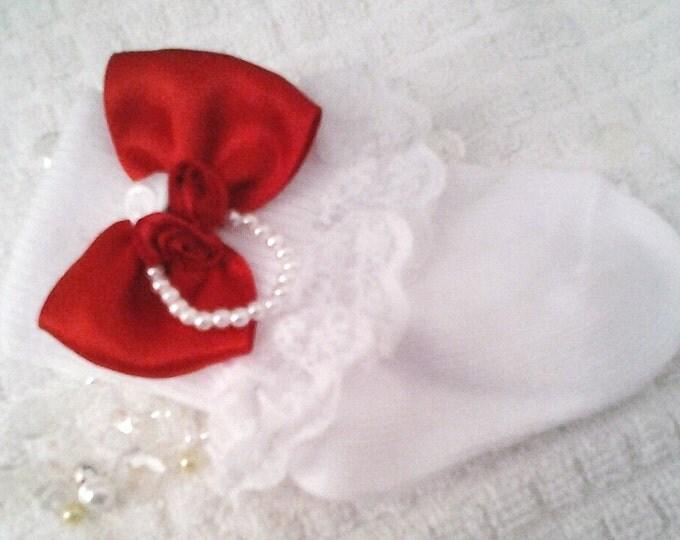 Newborn Girl Fancy Layette Lace Ruffled Socks
