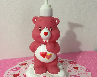 Vintage 1980's Tenderheart Care Bear Lotion Or Soap Dispenser ~ So Cute! ~ Authentic Vintage Official Care Bear Product Signed TCFC